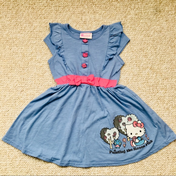 d20cec468 Hello Kitty Dresses | Storybook Collection 3t Blue Dress | Poshmark